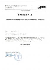 Berlin - Erlaubnis Berufsausübung